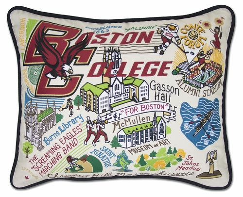 Boston College XL Embroidered Pillow by Catstudio (Special Order)