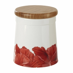 Botanic Blooms Poppy Large Store Jar by Portmeirion