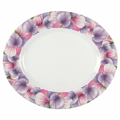 Botanic Blooms Sweet Pea Oval Platter by Portmeirion