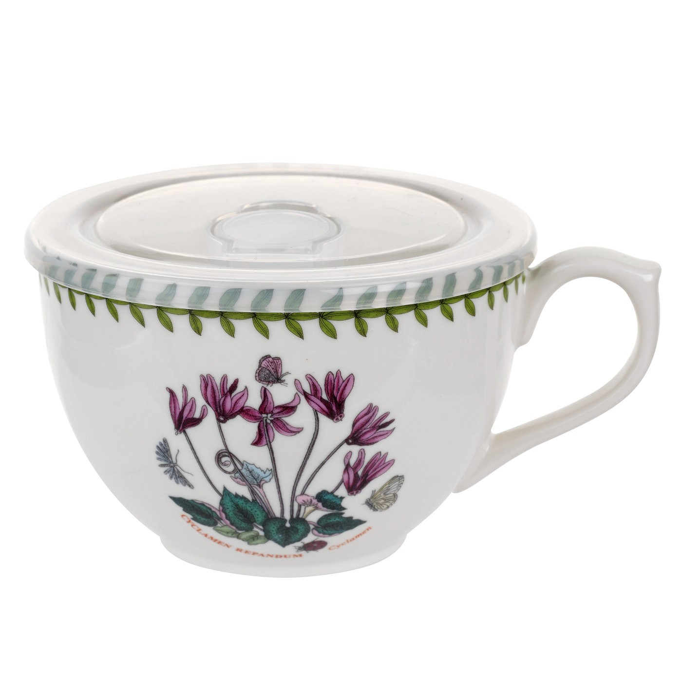 sc 1 st  The L& Stand & Botanic Garden Cyclamen Jumbo Cup with Lid by Portmeirion
