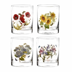 Botanic Garden Double Old Fashioned (Set of 4) by Portmeirion