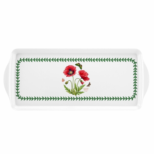 Botanic Garden Poppy Sandwich Tray by Pimpernel