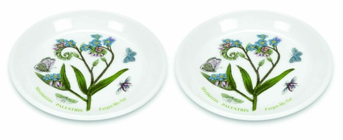 Botanic Garden Set of 2 Coasters/Sweet Dishes (Assorted Motifs - May Vary) by Portmeirion