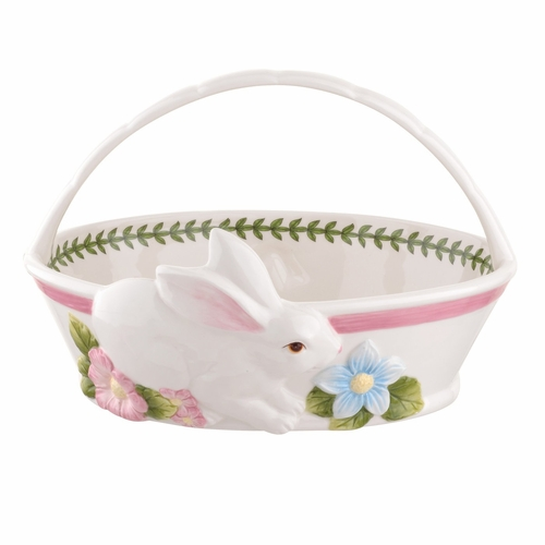 Botanic Garden Terrace Bunny Oval Bread Basket by Portmeirion