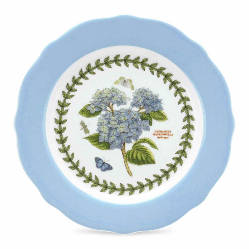 Botanic garden terrace set of 4 scalloped edge dessert for Portmeirion dinnerware set of 4 botanic garden canape plates