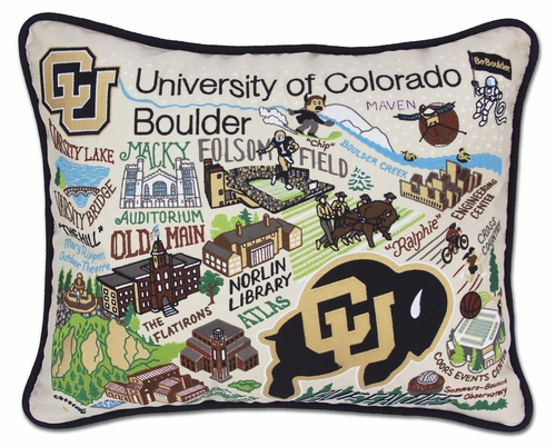Boulder, University of Colorado XL Embroidered Pillow by Catstudio (Special Order)