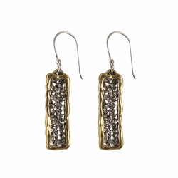 Brass Kristal Verve Earrings by Waxing Poetic (Special Order)