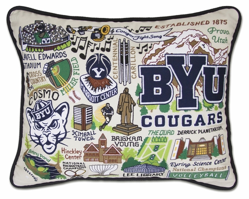 Brigham Young University XL Embroidered Pillow by Catstudio (Special Order)