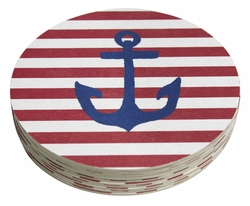 Anchor 4-Inch Coasters (Pack of 12) by Mariposa