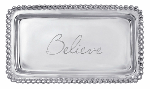 Believe Statement Tray by Mariposa
