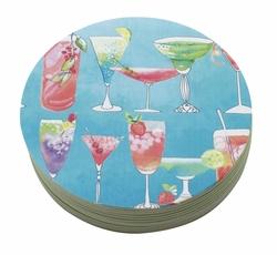 Blue Cocktail Coasters (Pack of 12) by Mariposa