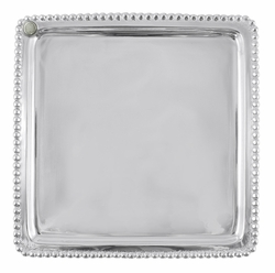 Charms Beaded Square Plate by Mariposa