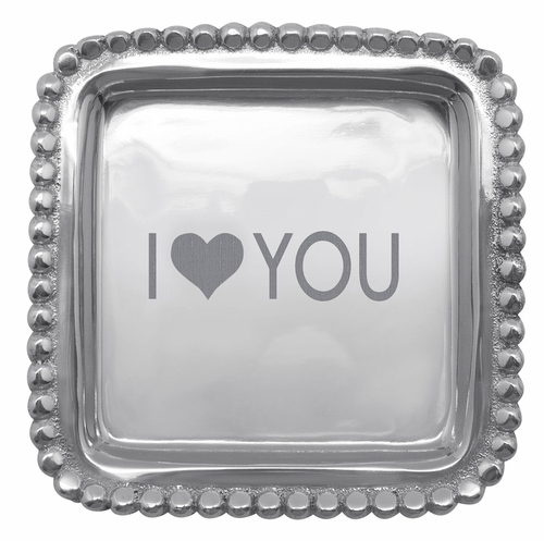 I Heart You Square Tray by Mariposa