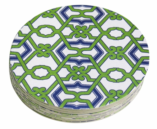 Jacki 4-Inch Coasters (Pack of 12) by Mariposa