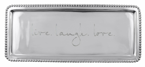 Live Laugh Love Beaded Long Statement Tray by Mariposa