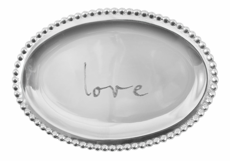 Love small oval tray by mariposa for Canape plate definition
