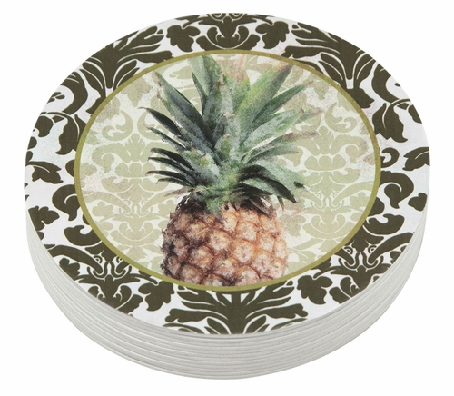 Pineapple 4-Inch Coasters (Pack of 12) by Mariposa