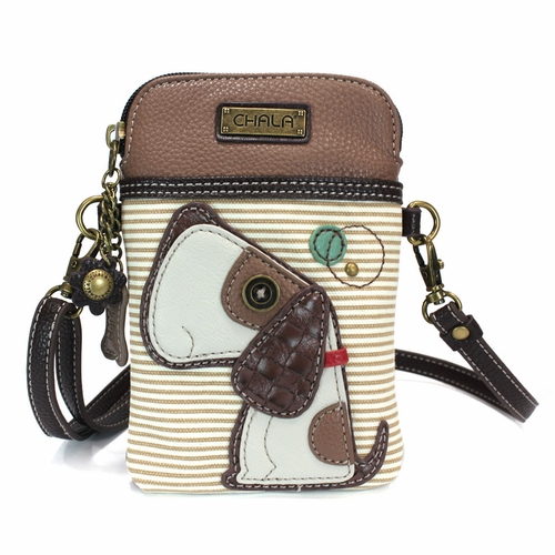 Brown Stripe Dog Cell Phone Crossbody