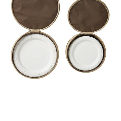 Burlap Dinner Plate u0026 Dessert/Salad Plate Storage Containers (Set of 2) by Juliska  sc 1 st  The L& Stand & Burlap Dinner Plate u0026 Dessert/Salad Plate Storage Containers (Set of ...
