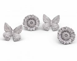 Butterfly Flower Napkin Rings by Arthur Court