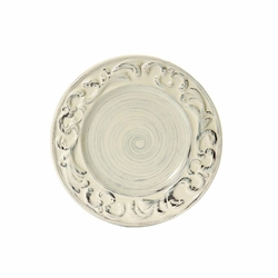 "(C) Baroque Cream Salad Plate 8.5""D - Set of 4 - Intrada Italy"