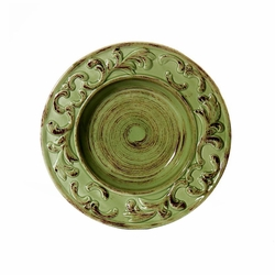 (C) Baroque Green Soup Plate 10 D - Set of 4 - Intrada  sc 1 st  The L& Stand & A) Baroque Green Dinner Plate 11
