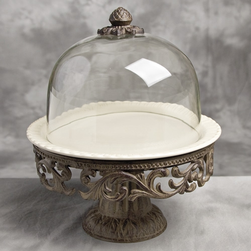 cake plate with dome cake pedestal w dome and plate gg collection 2273