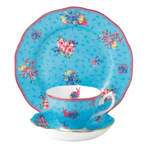 Candy Honey Bunny 3-Piece Teacup Set by Royal Albert - Special Order