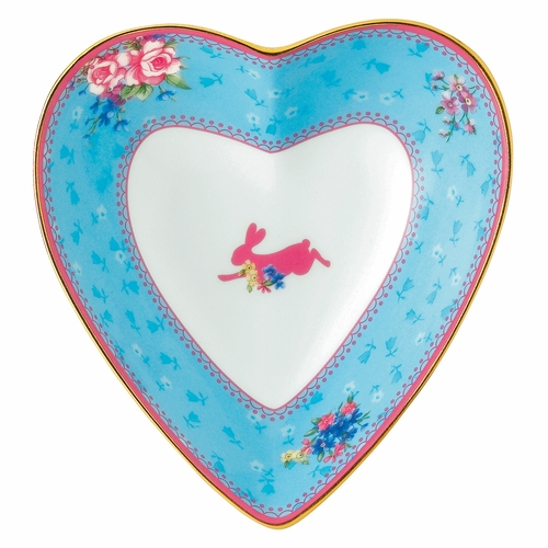 Candy Honey Bunny Heart Tray by Royal Albert - Special Order