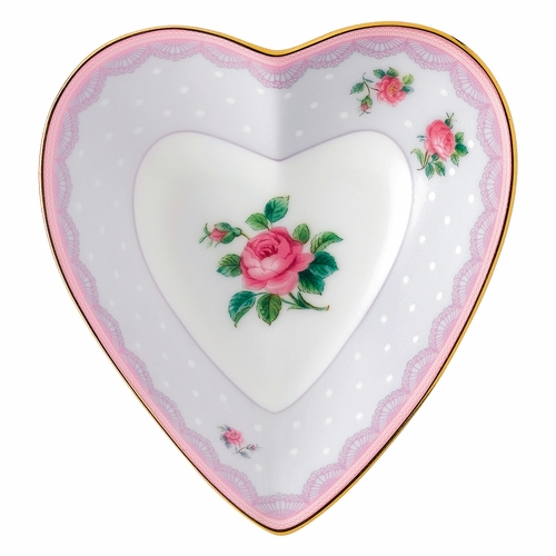 Candy Love Lilac Heart Tray by Royal Albert - Special Order