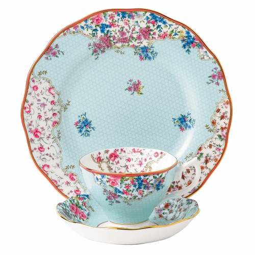 Candy Sitting Pretty 3-Piece Teacup Set by Royal Albert - Special Order