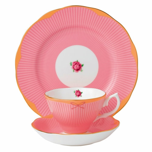 Candy Sweet Stripe 3-Piece Teacup Set by Royal Albert - Special Order
