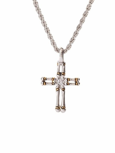 "Canias 24"" Double Row Cross Chain by John Medeiros - Special Order"