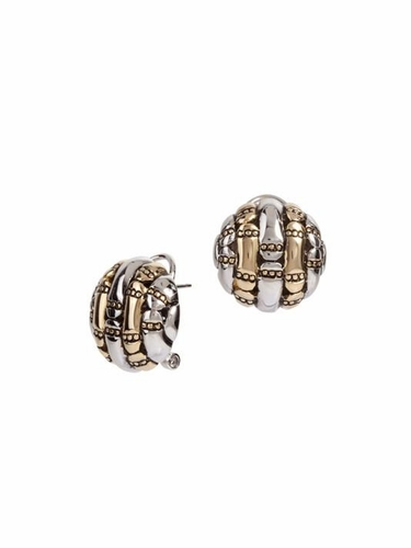 Canias Round Omega Clip Post Earrings by John Medeiros