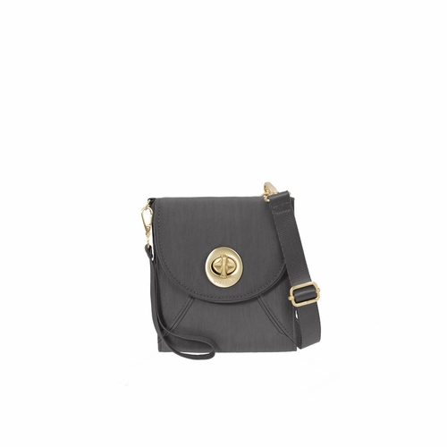 Charcoal Athens RFID Crossbody Wallet by Baggallini