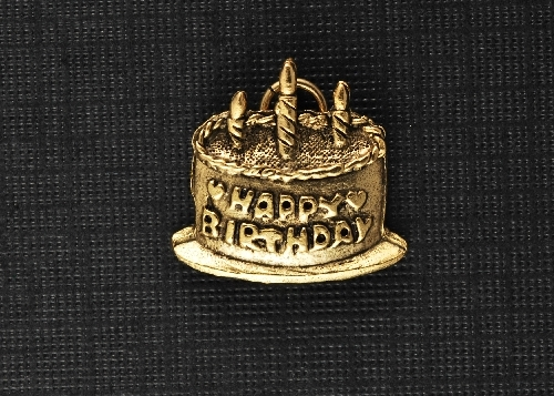 Charm Gold Birthday Cake by Beaucoup Designs