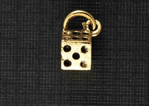 Charm Gold Dice by Beaucoup Designs