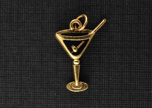 Charm Gold Martini Glass by Beaucoup Designs