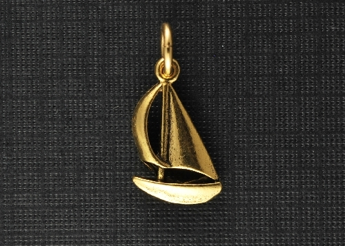 Charm Gold Sailboat by Beaucoup Designs