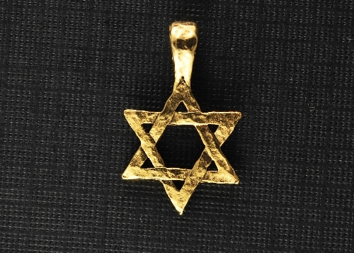 Charm Gold Star of David Hammered by Beaucoup Designs