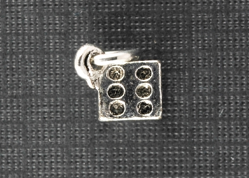 Charm Silver Dice by Beaucoup Designs