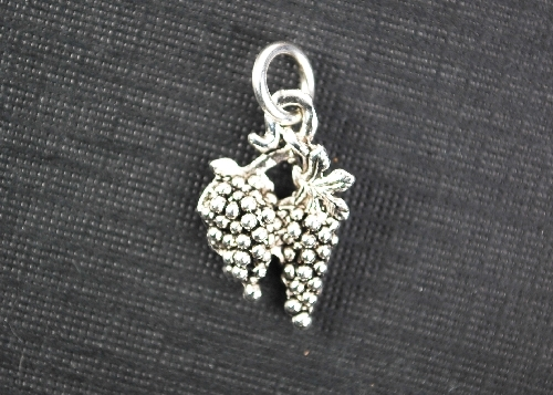 Charm Silver Grapes by Beaucoup Designs