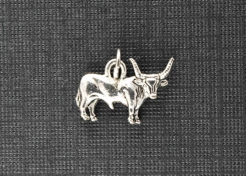 Charm Silver Longhorn by Beaucoup Designs