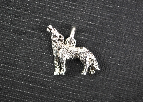 Charm Silver Wolf by Beaucoup Designs