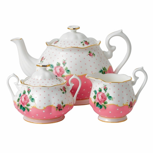 Cheeky Pink 3-Piece Teapot Set by Royal Albert