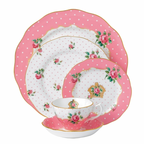 Cheeky Pink 5-Piece Place Setting by Royal Albert