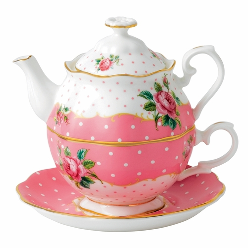 Cheeky Pink Tea For One by Royal Albert