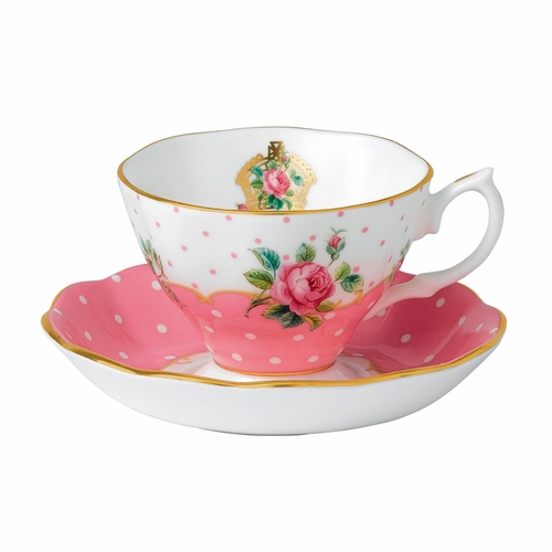 Cheeky Pink Teacup & Saucer Set by Royal Albert - Special Order
