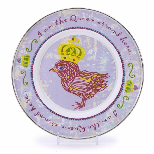 Chirp Girl Child Plate by Golden Rabbit