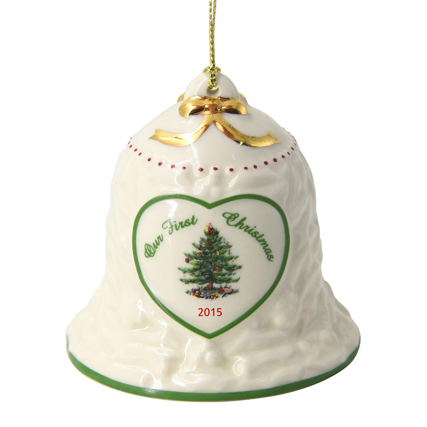 Christmas tree our first bell ornament by spode